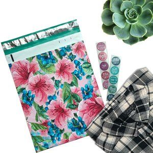 50 Pack 10x13 Pink Tropical Floral Poly Mailer
